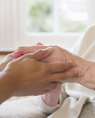 Person caring for someone with dementia