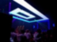 Pantalla LED techo pista