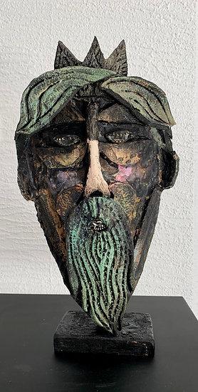 Technique mixte, collage, H30 cm