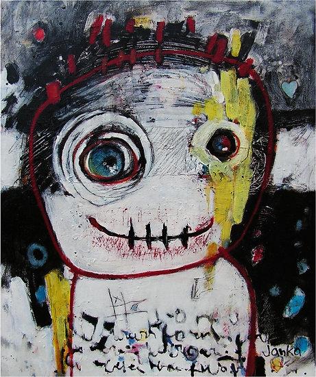 Acrylique sur toile, 46 x 55 cm