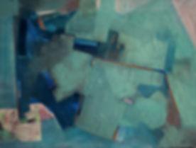 """A. Kamińska, cycle """"Espace - non-espace"""" Vol. 4, N° 5"""", H/T, 30x40 cm, 2018"""
