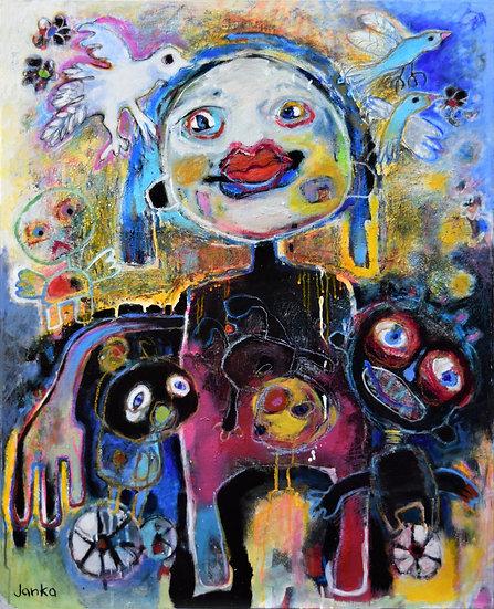 Acrylique sur toile, 80 x 100 cm