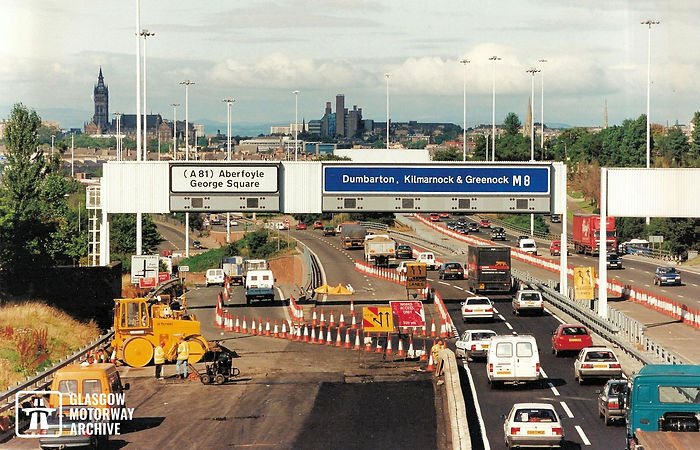 M8 motorway - Woodside Section - J16 widening works (1990s).