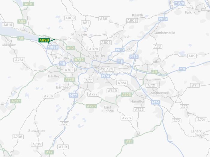 Glasgow Motorway Archive - Erskine Bridge Map