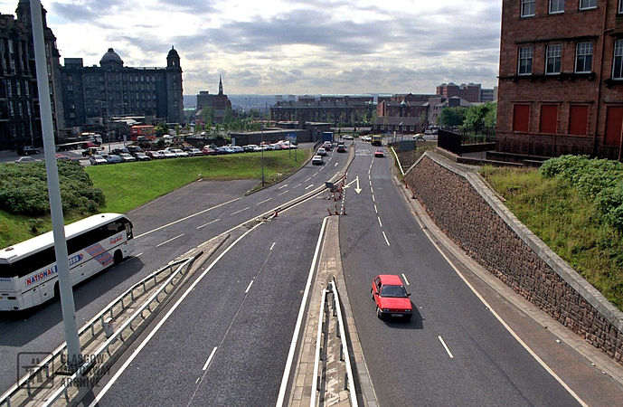 Townhead Interchange - Unbuilt connection to east flank of the Inner Ring Road (1995)