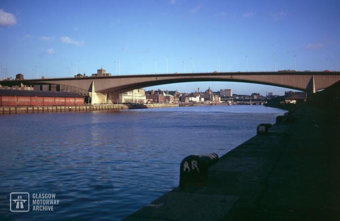Downstream view of the Kingston Bridge, Glasgow (1970s) © Glasgow Motorway Archive