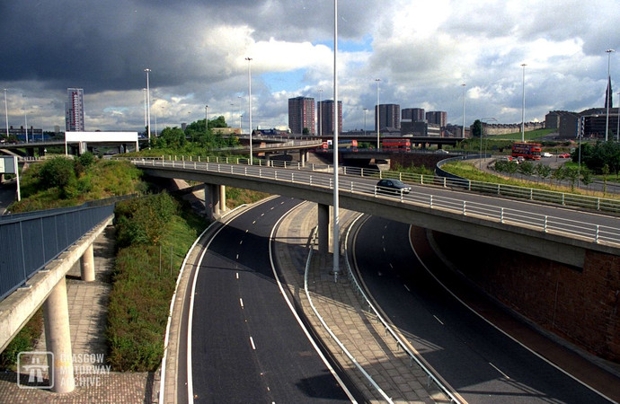 Townhead Interchange on the M8 motorway (1995)