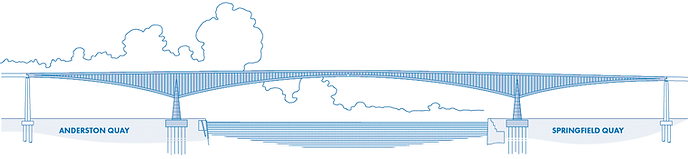 Kingston Bridge Elevation Drawing © Glasgow Motorway Archive