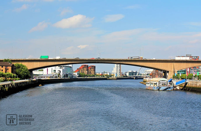 Kingston Bridge, Glasgow - Looking West (2014)