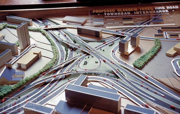 Model of proposed Townhead Interchange, Glasgow (1960s)
