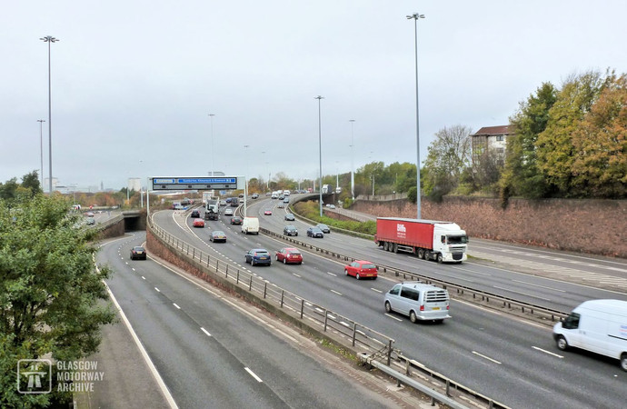 M8 Townhead Interchange from the east (2014)