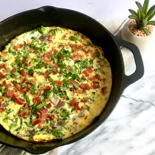 Veggie Frittata with Bacon