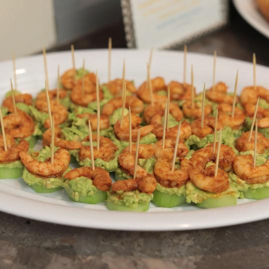 Custom Made Shrimp Avocado Cucumber Bite