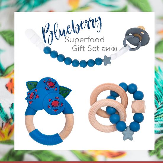 Superfood Teething Gift Set – Blueberry