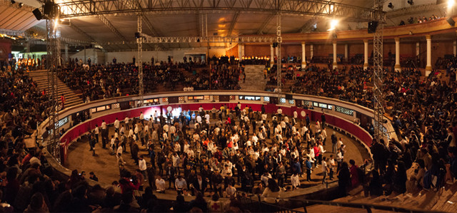 De tu Puno Y Letra performance at Quito Bullring