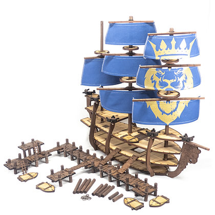 Complete Galleon and Docks Bundle, Royal Lion Theme