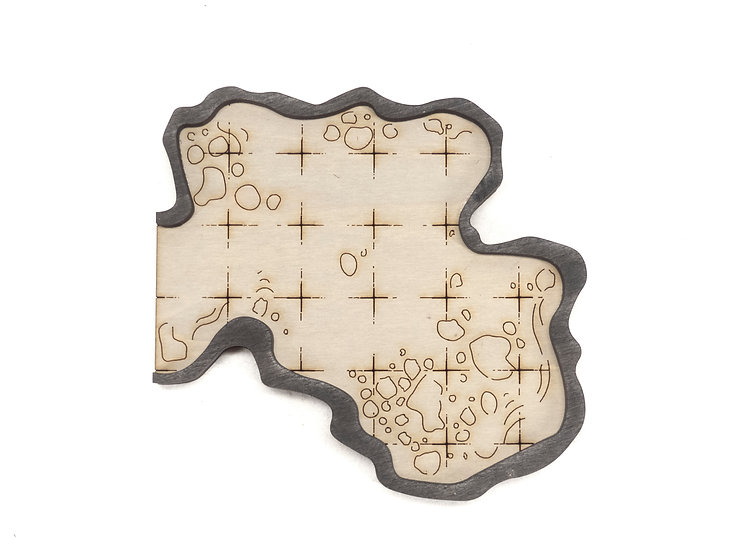 Cavern - Connector - Dead End Room A  Add-On Dungeon Tile, Ready for Use