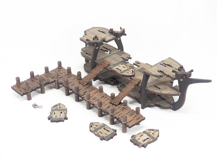 Standard Classic Ghost/Wrecked Ship and Docks Bundle