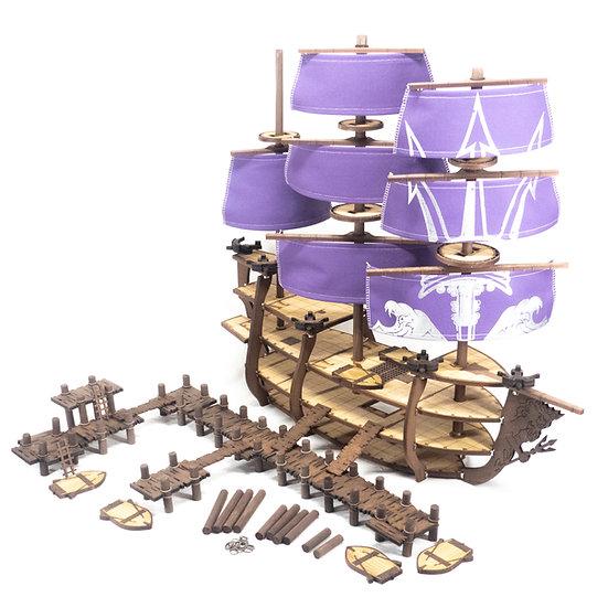 Complete Galleon and Docks Bundle, Poseidon/Neptune Trident Theme
