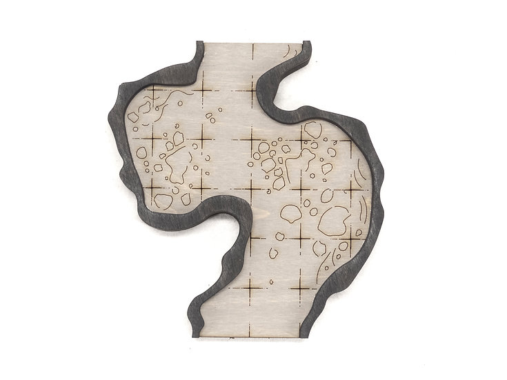 Cavern - Connector - Straight B  Add-On Dungeon Tile, Finished, Ready for Use