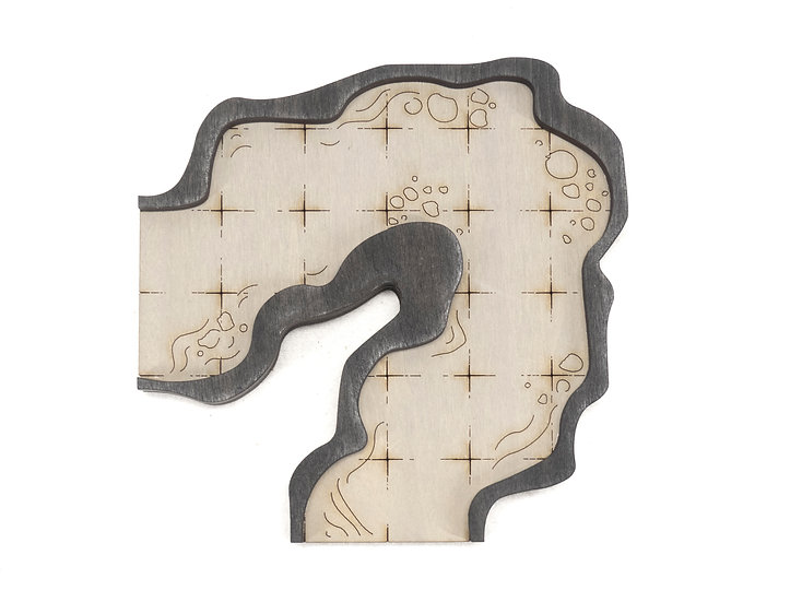 Cavern - Connector - Corner B Add-On Dungeon Tile, Finished, Ready for Use