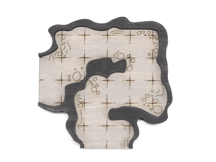 Cavern - Connector - Corner D Add-On Dungeon Tile