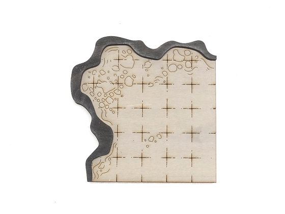 Cavern - Room - Corner E Add-On Dungeon Tile, Finished, Ready for Use