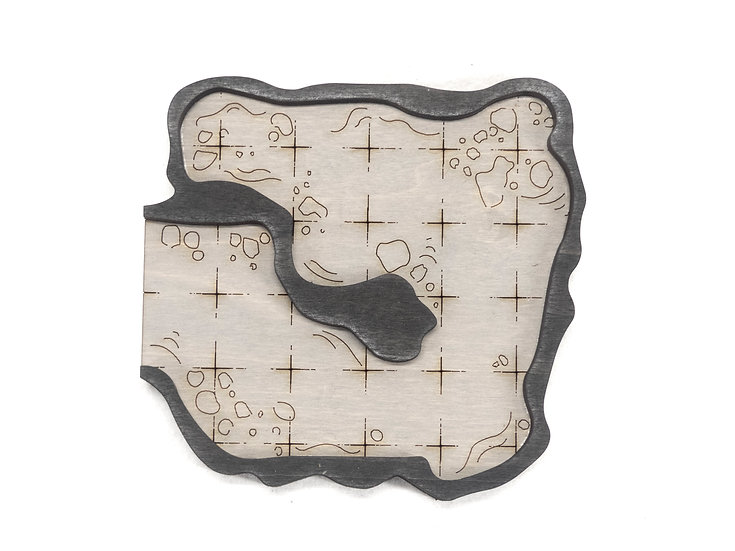 Cavern - Connector - Dead End Room B Add-On Dungeon Tile, Ready for Use