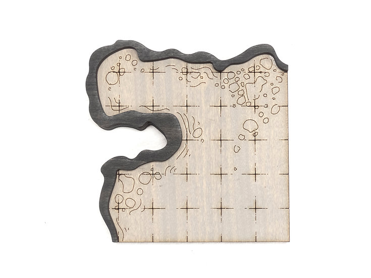 Cavern - Room - Corner D  Add-On Dungeon Tile, Finished, Ready for Use