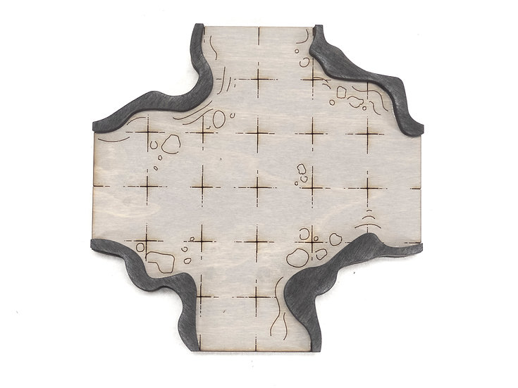 Cavern - Connector - Intersection 4-Way A Add-On Dungeon Tile, Ready for Use