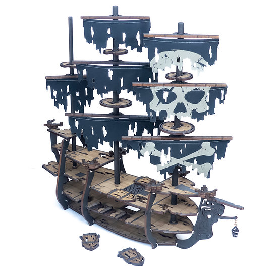 Complete Ghost Galleon Pirate Ship Bundle for Tabletop RPGs Like D&D, Pathfinder