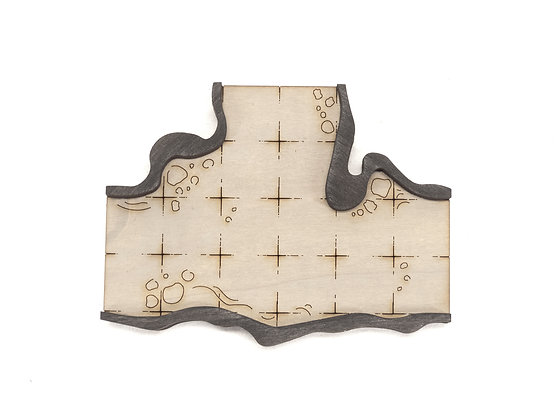 Cavern - Connector - Intersection 3-Way A  Add-On Dungeon Tile, Ready for Use