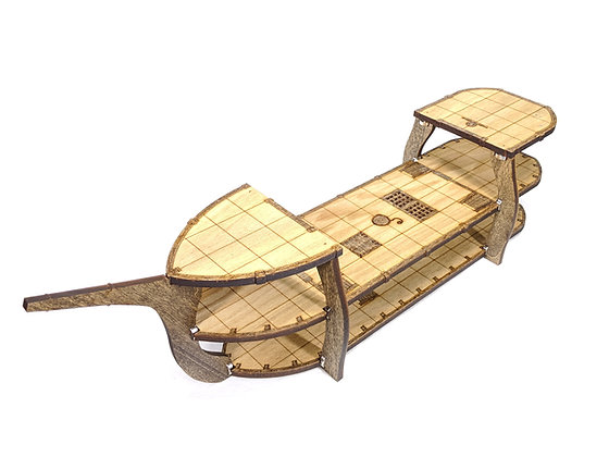 3-Level Wooden Classic Ship for RPGs