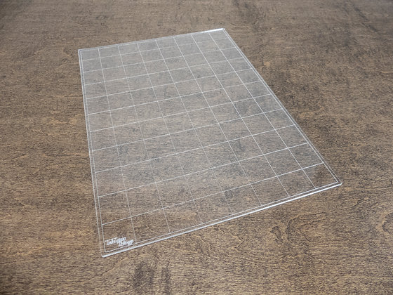 """Instant Square or Hex Grid Overlay, 8""""x11"""" Acrylic Battlemap for Tabletop RPGs"""
