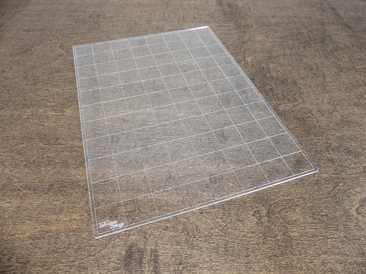 """Instant Square Grid Overlay, 8""""x11"""" Acrylic Battlemap for Tabletop RPGs"""