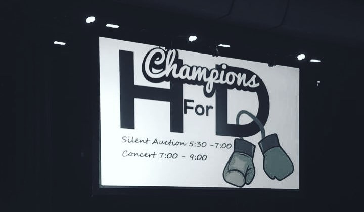 Photos taken from the first ever Champions for HD benefit concert.