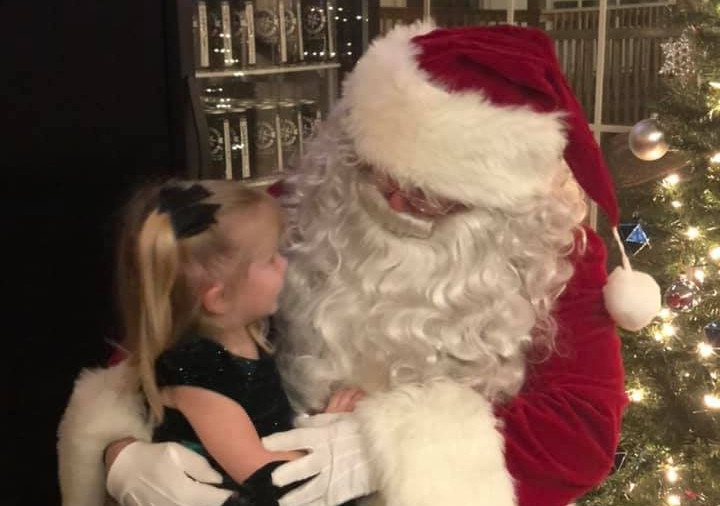 Santa even came to visit.