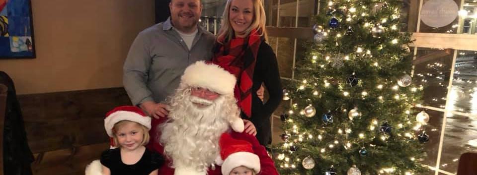 Family photo with Santa.