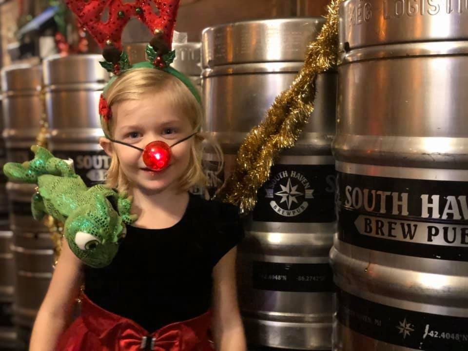 One of Shelby's biggest supporters at South Haven Brewpub!