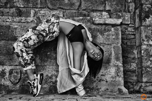 photo street dance noir et blanc