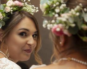 le reflet de la mariée