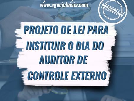 PROTOCOLADO PROJETO DE LEI PARA INSTITUIR O DIA DO AUDITOR DE CONTROLE EXTERNO