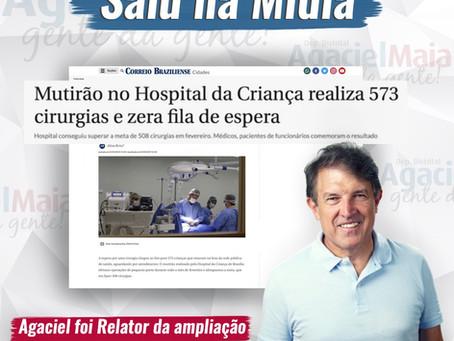 Saiu na Mídia: Mutirão no Hospital da Criança realiza 573 cirurgias e zera fila de espera.