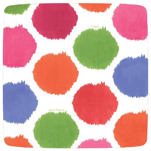 "Caspari Paper Party Dinner Plates - ""Spotty"". Pack of 8"