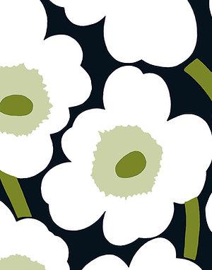 Marimekko Paper Napkins - Unikko Black - Luncheon Size 20 Pack