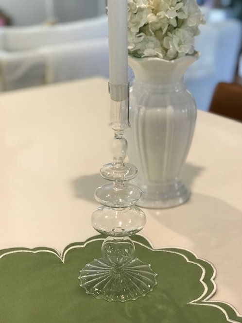 Glass Candle Holder - Clear