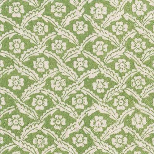 Caspari Paper Napkins -Floral Cross Green-Luncheon Size 20pack