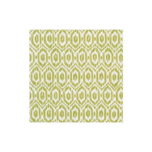Cocktail Size Caspari Paper Napkins - Amala Ikat - Green - 20 pack
