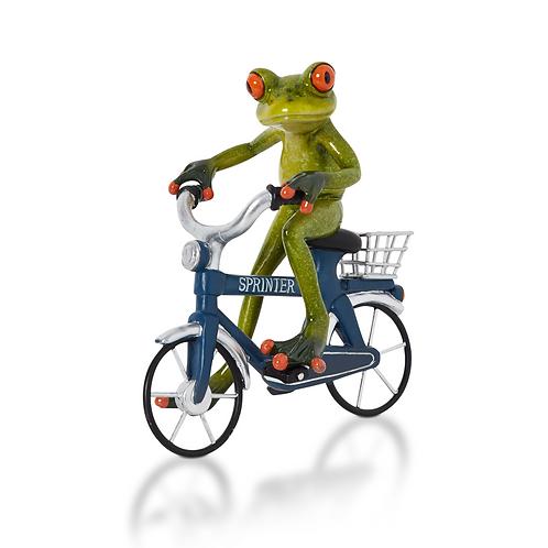 Frosch auf Fahrrad