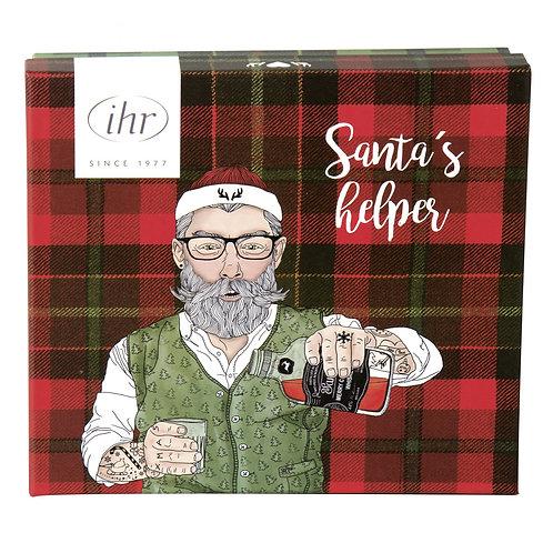 Flachmann und Schnapsbecher 'Hipster Santa'